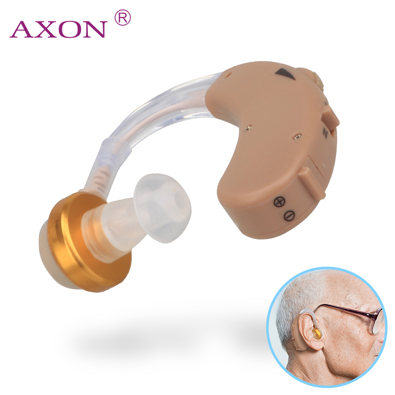 F-138 Ear Hearing Aid Mini Device Volume Adjustable Sound Voice Amplifier Enhancement Hear Clear for the Elder Deaf Aids Care