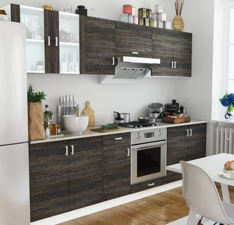 >VidaXL Kitchen Cabinet Set 8 Pcs <font><b>Wenge</b></font> <font><b>Consisting</b></font> <font><b>Of</b></font> 4 Upper Units And 4 Basic Units For Small And Medium-Sized Kitchens