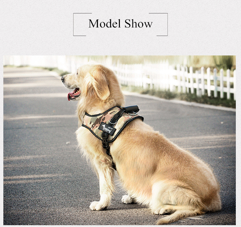 Professional Pet Dog Harness K9 No Pull Saddle Harness Adjustable Strap Dog Training Harness for Medium Large Dogs Accessories (2)