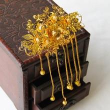 Costume hanfu bride hair accessory tassel comb insert hair comb classical hanfu clothing accessories hair jewelry