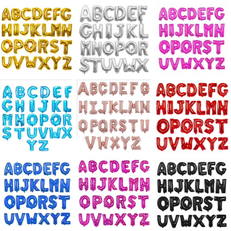 16 Inch Letter A To Z Alphabet Foil Balloons Letter Birthday Party Wedding Decoration Event & Party Supplies Birthday Balloons