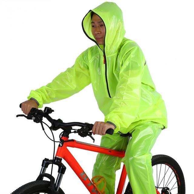 724917078 Conjuntos de Ciclismo Unisex Capa De Chuva Impermeável Ao Ar Livre à prova  d  água