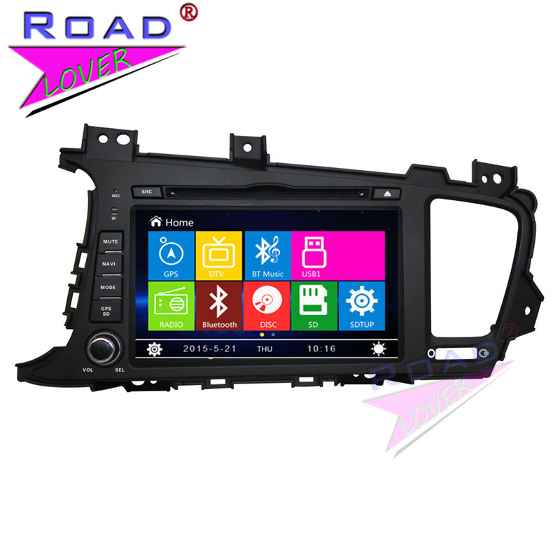 TOPNAVI Wince 6.0 TwoDin 8Inch Car Media Center DVD Auto Player For KIA K5 2011- Stereo GPS Navigation HD TFT Touch Screen MP4