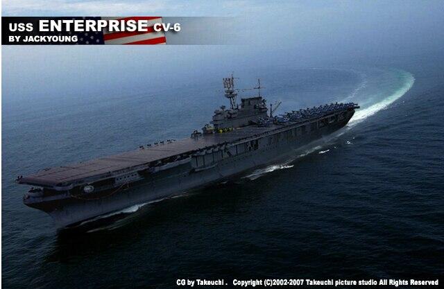 mini hobby models 1  700 warships assembled model    wwii us navy uss enterprise cv 6