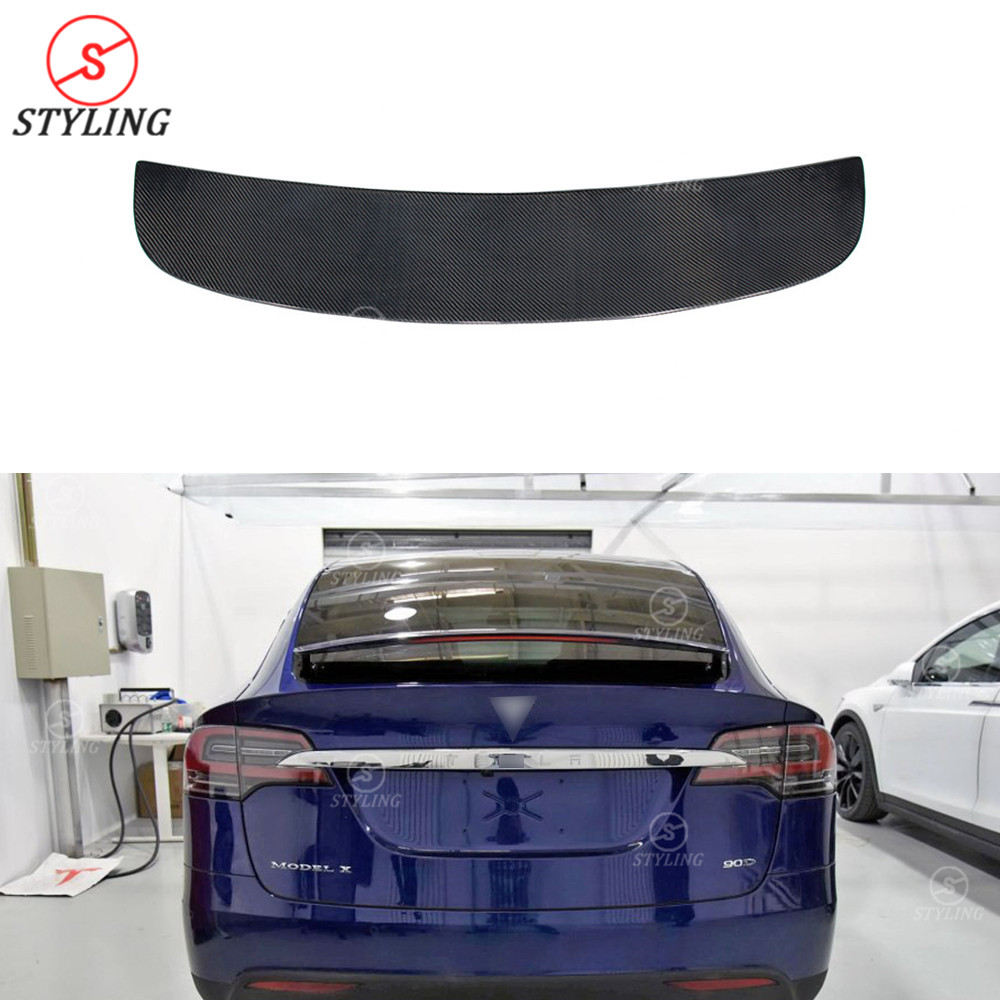 Carbon Fiber Rear Spoiler For Tesla Model X Spoiler
