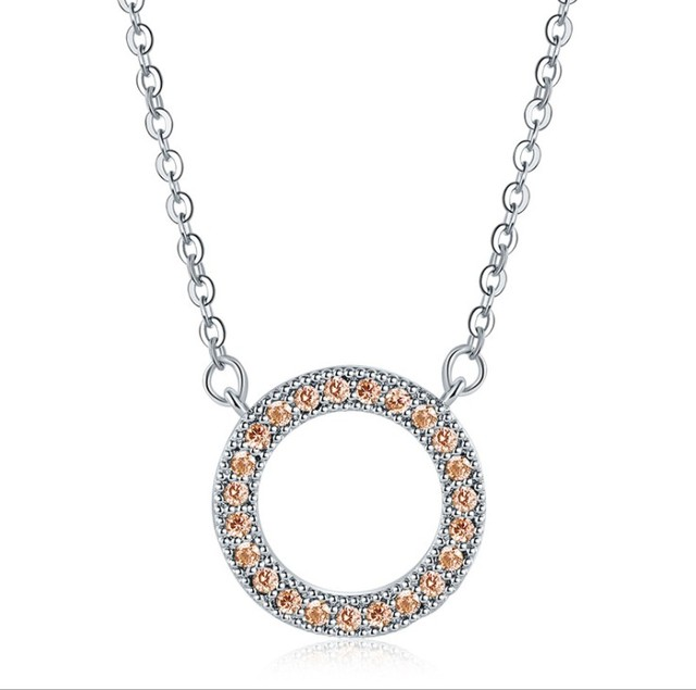 2019 New Original Round Crystals from Austrian name Necklaces Fine Jewelry For Women chain Christmas Party Gift
