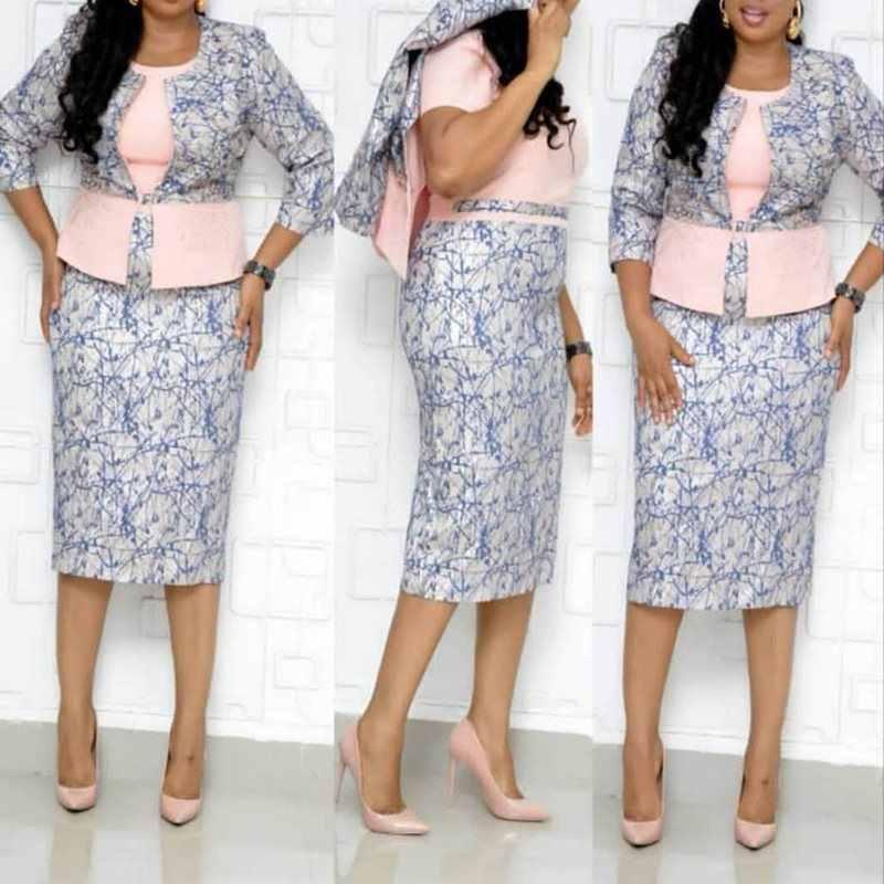 الصيف زائد حجم حزب مكتب السيدات أنيقة المرأة الأفريقية فساتين متوسطة الطول الوردي الحلو مثير Bodycon طباعة الرجعية الإناث شيك اللباس
