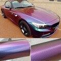 Car Stickers 3D Carbon fiber vinyl blue chameleon bronze matt film body glossy gradient color change