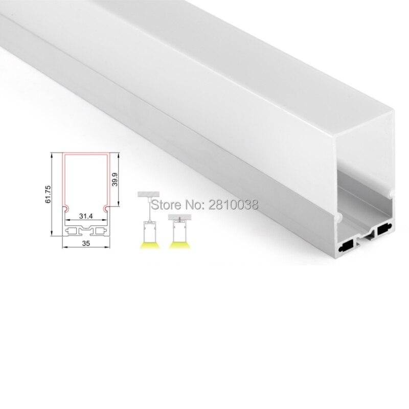 10X2 M ensembles/Lot lumière linéaire profil de bande à led aluminium Super profond U forme profilé en aluminium conduit logement pour plafonniers