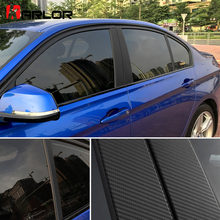 Colored Auto Window Frame B C Pillar Carbon Fiber Protection Film Car-styling Sticker Decal For BMW F30 3 series Accessories