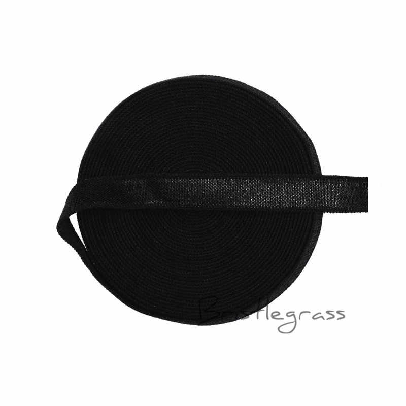 """BRISTLEGRASS 5 Yard 3/8 """"10 mét Bột Màu Hồng Spandex Satin Băng Sáng Bóng Không fold Over Elastic Headband Dây Đeo Áo Ngực DIY May Ren Trim"""