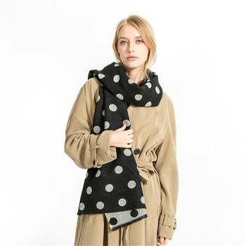Autumn Women Long Scarves 200*85cm Designer Polka Dots Print Female Fashion Casual Shawl Warm Cashmere Blanket Scarves