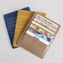 SIKU leather men's card holder brand sheepskin wallet card holder wholesale  OEM