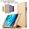 PU Leather Case cover For Huawei MediaPad M3 8.4 inch Tablet PC Protective Case For Huawei M3 BTV-W09 BTV-DL09 + Film + Stylus