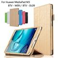 Pu cubierta de cuero para huawei mediapad m3 8.4 pulgadas tablet Caja Protectora de la PC Para Huawei M3 BTV-W09 BTV-DL09 + Film + Stylus