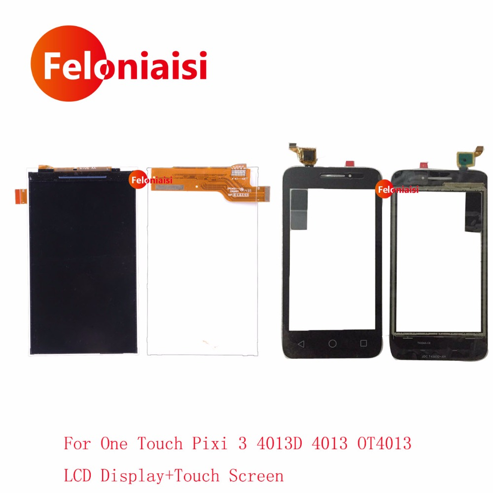 High Quality 4.0 For Alcatel One Touch Pixi 3 4013D 4013 OT4013 Lcd Display With Touch Screen Digitizer Sensor Outer Glass Lens