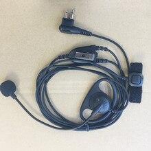 honghuismart D shape with Finger PTT MIC headphone M plug for motorola EP450,CP040,GP3188,Hytera etc walkie talkie for rider