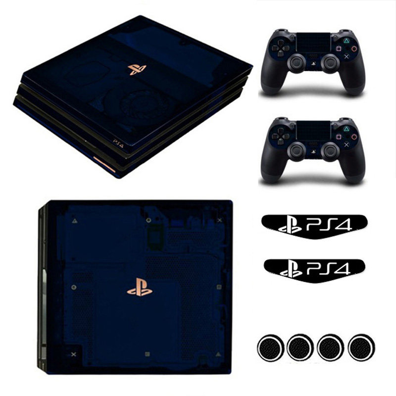 New Pure Color Play Station 4 Pro Games Host Stickers Controller Skin  Sticker for Playstation 4 PRO Game Play PS4-131