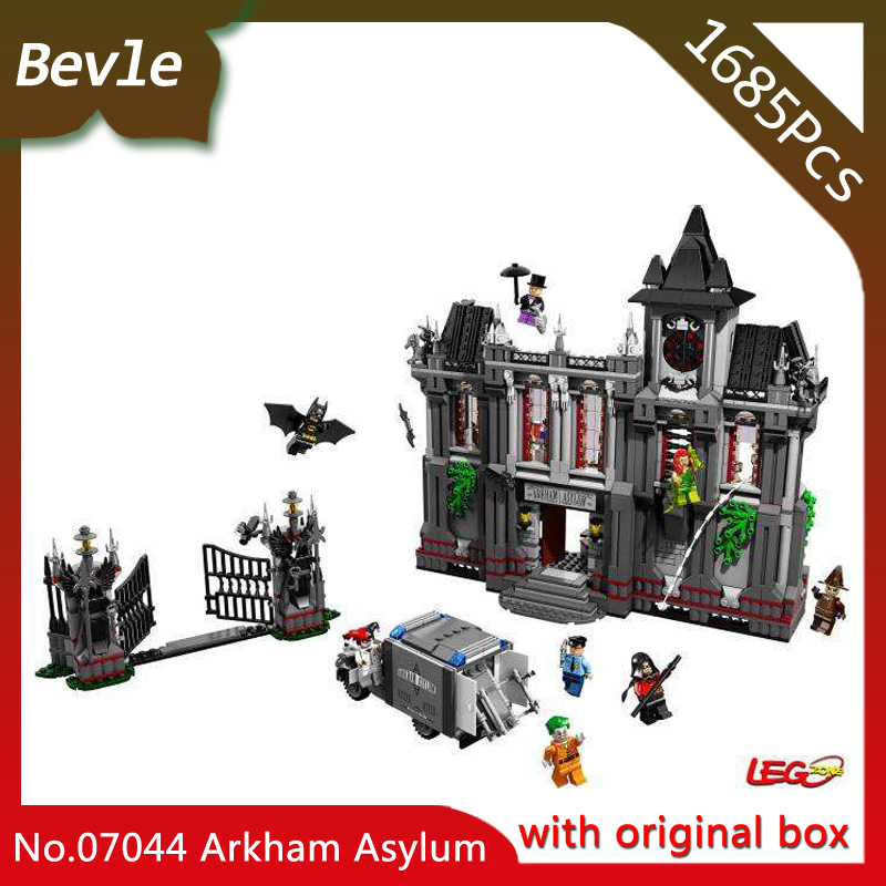 Bevle Store LEPIN 07044 1685Pcs with original box movie series Batman madhouse Building Blocks Bricks For Children Toys 10937 bevle store lepin 22001 4695pcs with original box movie series pirate ship building blocks bricks for children toys 10210 gift