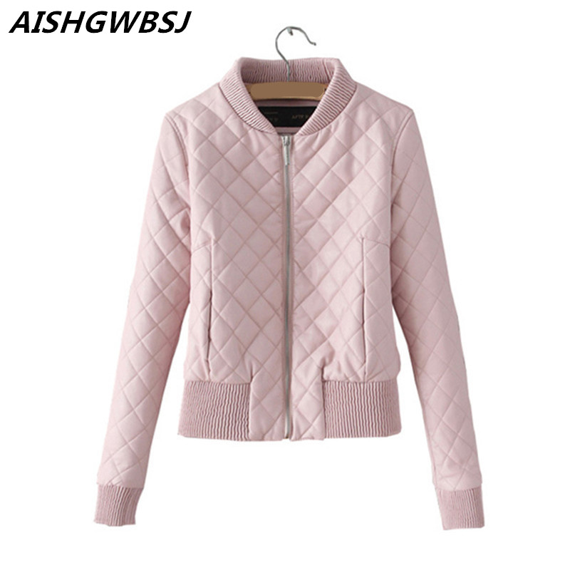 AISHGWBSJ Spring Women Bomber Jacket Coat Short Slim Pink Jacket Coat Chaquetas Mujer Veste Militaire Femme Women Jackets YX8851 new lcd display matrix for 7 nexttab a3300 3g tablet inner lcd display 1024x600 screen panel frame free shipping