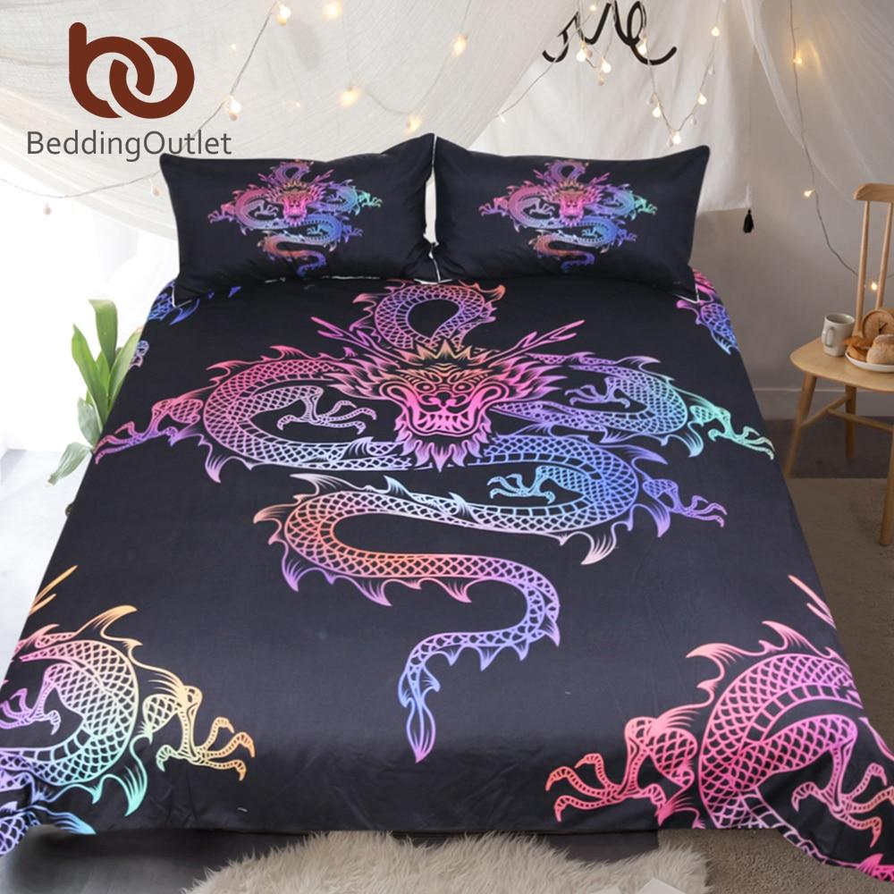 Beddingoutlet Dragon Bedding Set King Colorful Printed