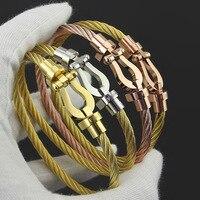 Women S Horseshoe Bracelet Buckle 316 Titanium Steel Unique Accessory