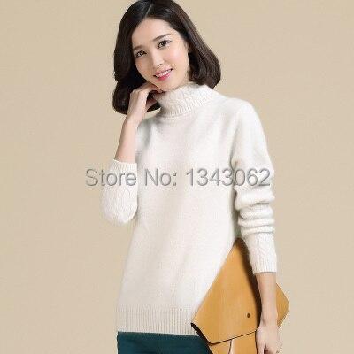 NUEVO otoño y el invierno de cuello alto suéter de punto femenino suéter versió
