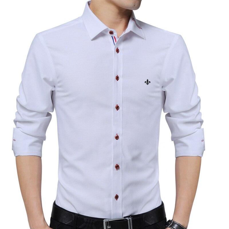 YOUTHUP Camisas Formales de Los Hombres Grandad Collar Slim Fit Design