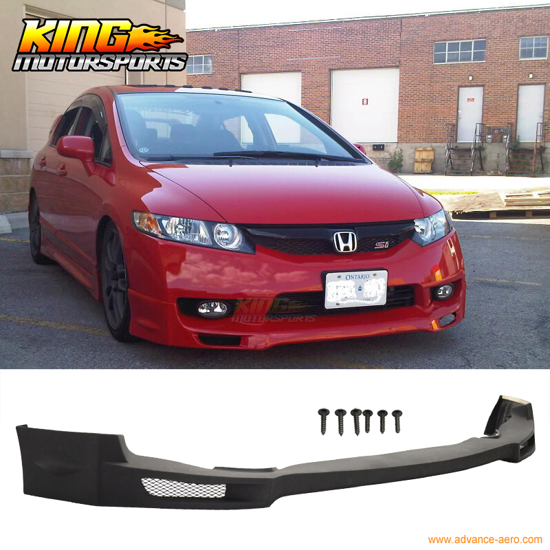 For 2009 2010 2011 Honda Civic 4dr Mugen Pu Front Bumper
