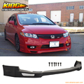 FOR 2009 2010 2011 HONDA CIVIC 4DR MUGEN PU FRONT BUMPER LIP SPOILER BODY KIT URETHANE