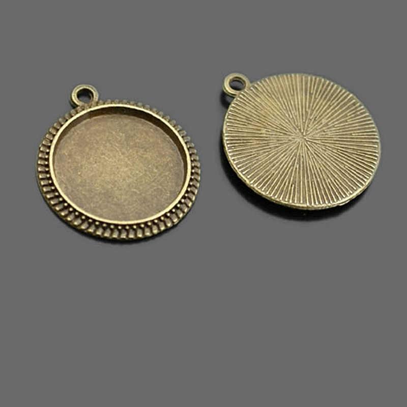 (29003) 10 piezas dentro de 16 MM, 25 MM, 30MM de aleación de Zinc de Base bandejas biseles Cabochon Cameo configuración Diy accesorios de la joyería