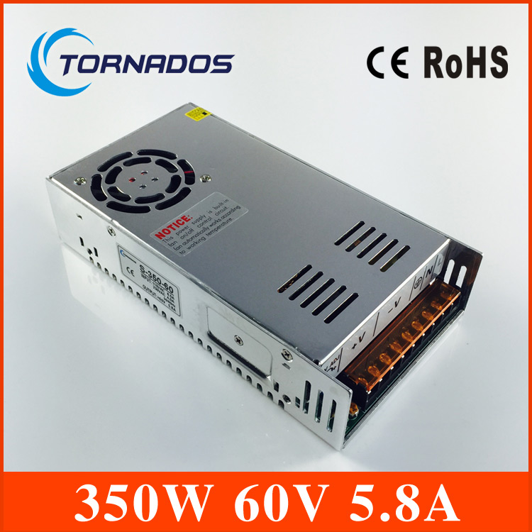 Promotion for Sale 350W 60V 5.8A Single Output Switching power supply AC TO DC for CNC Led strip S-350-60 1200w 12v 100a adjustable 220v input single output switching power supply for led strip light ac to dc