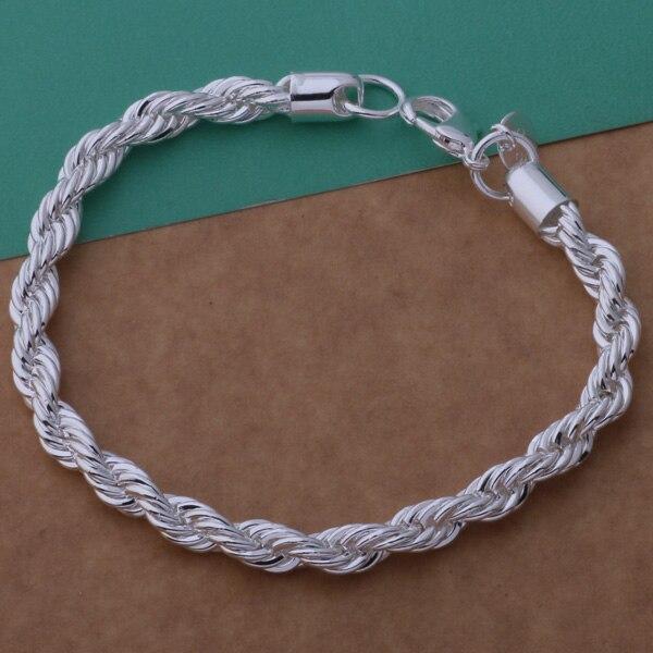 AH254 браслет срібного срібла 925 проби, - Модні прикраси - фото 3