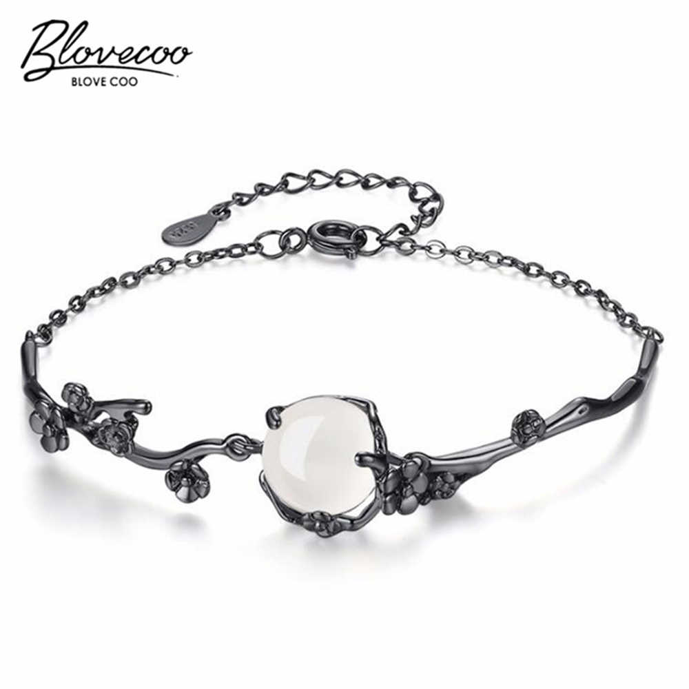 New Creative Plum Bracelet Women Jewelry Personality Artistic Peach Flowers Luxury White Crystal Hand Jewelry Wholesale
