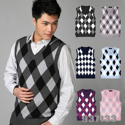 Hot sale!New to 2014 Men British style v neck sweater vests with ...