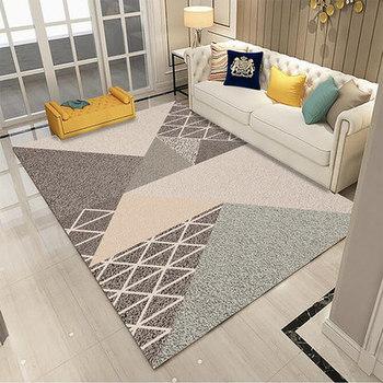 Modern Geometric Art Short Plush Fabric Carpet Pad High Quality Elastic Anti-slip Rugs Outdoor Prayer Parlor Home Floor Mat