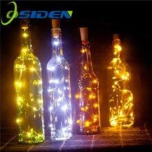 6.5ft 20LED 2 м светильники в форме винных бутылок пробковая гирлянда на батарейках DIY рождественские гирлянды вечерние украшения на Хэллоуин свадьбу