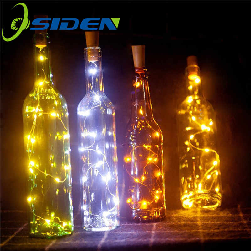 6.5ft 20LED 2M Wine Bottle Lights Cork Battery Powered Garland DIY Christmas String Lights Party Halloween Wedding Decoracion
