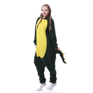 Image 4 - Kigurumi men women Anime Unisex Adult Sleepwear Crocodile Onesies Pajamas Cosplay Costume Halloween Carnival Masquerade Party