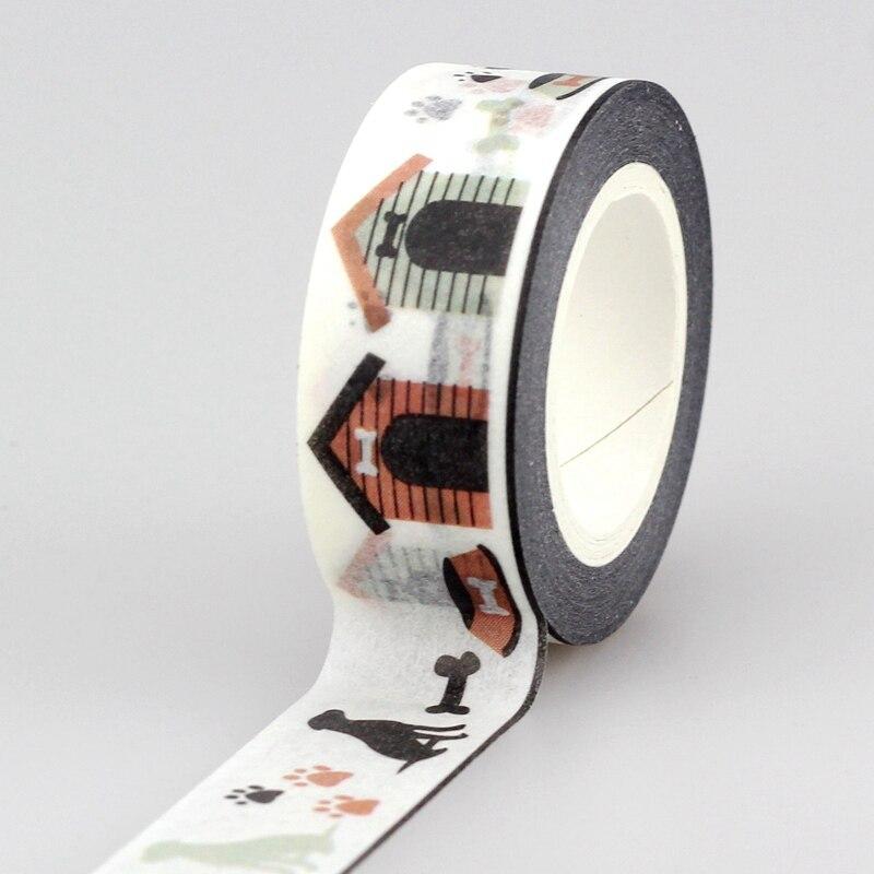 MüHsam 1 Stück Hund Haus Washi Tape Japanischen Papier Diy Planer Masking Tape Klebebänder Aufkleber Dekorative Schreibwaren Bänder