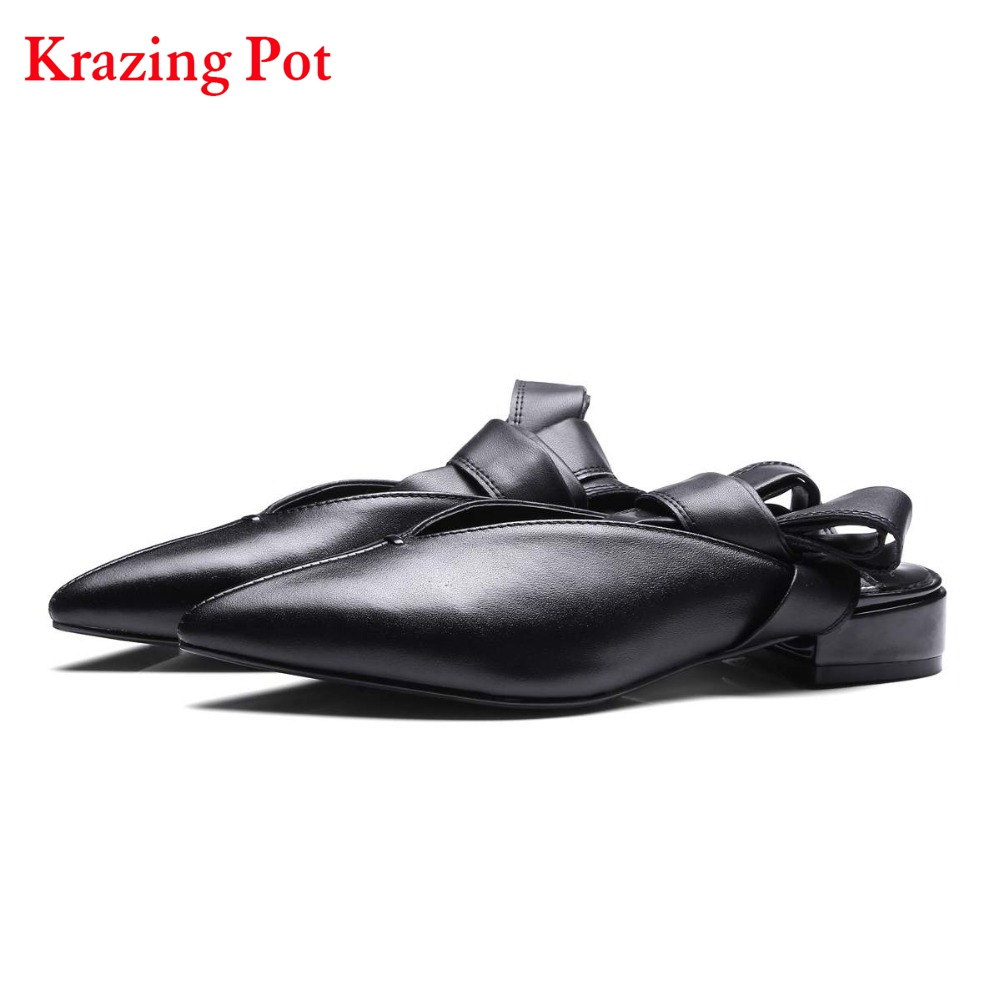 Fashion Women Brand Shoes Shallow Pointed Toe Bowtie Ballet Low Heels Women Pumps Sweet Slingback Lace Up Gladiator Shoes L17 2017 fashion shallow sheep suede brand shoes round toe preppy style med heels solid sweet pumps slingback sandals young lady l22