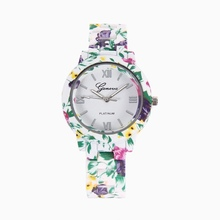 Casual Watch Women Geneva Flower Quartz watch 9 colors men women Analog wristwatches Sports Watches Ladies Silicone watches