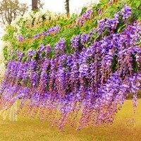 75 cm Yapay İpek Wisteria Sahte Bahçe Asılı Çiçek Vine Düğün Ev Dekor Yeşil Kırmızı Mor Beyaz Çiçek Dekor 12 adet