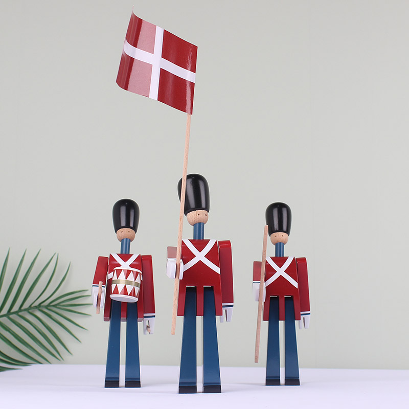 Image 3 - Nordic Danish Soldier Wooden Decoration Creative Home Childrens 
