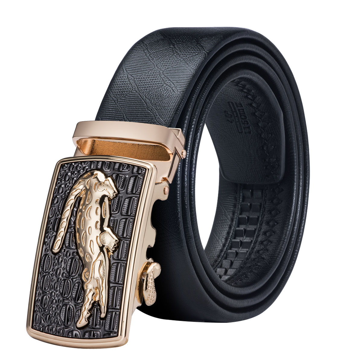 Mens PU Leather Automatic Buckle Belts SUPPION Fashion Waist Strap for Men