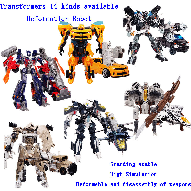 Children Plastic deformation robot diecasts toy vehicle boy Transformation toys Optimus Prime Galvatron model 14 kinds available