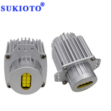 Фотография SUKIOTO 1 Pair 80W e90 angel eyes led bulbs E91 6500K White E90 led marker Angel Eye LED Halo rings Car Styling Accessory Light