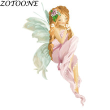 ZOTOONE Sexy Fashion Girl Applique Iron on Transfers Patches for Clothing Dress T-shirt Custom Heart Patch Clothes Star