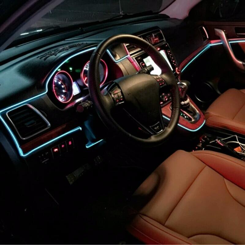 5M Ice Blue Neon Light Neon Wire Lamp Flexible EL Wire Car ...