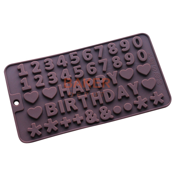 happy birthday alphanumeric symbols silicone chocolate molds letters fondant cake baking diy tools sicm 215